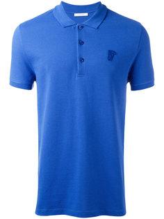 рубашка-поло с вышивкой логотипа Versace Collection