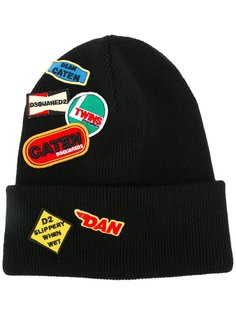 шапка-бини с нашивкой Dsquared2