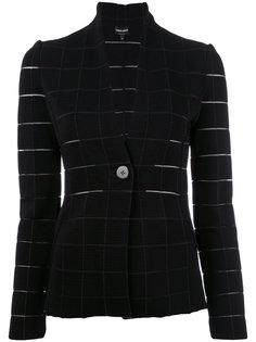 приталенный пиджак Grid Giorgio Armani