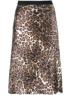 юбка с леопардовым принтом Nili Lotan