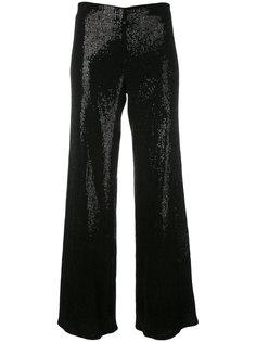 брюки-палаццо с пайетками Giorgio Armani