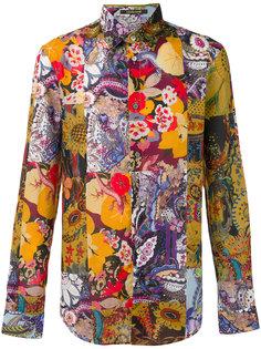 рубашка с принтом Patchwork  Roberto Cavalli