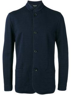 жаккардовый пиджак с воротником-мандарин  Giorgio Armani