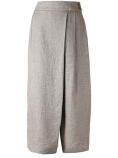 широкие асимметричные брюки со складками Eleventy