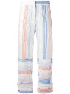 укороченные брюки в полоску Stella McCartney