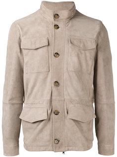 куртка с двойной застежкой и накладными карманами Eleventy