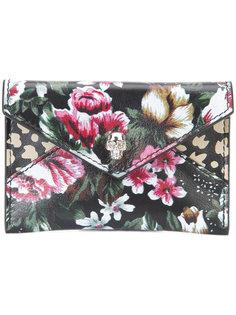 кошелек с цветочным принтом Alexander McQueen