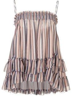 юбка с эластичным поясом и оборками Derek Lam 10 Crosby