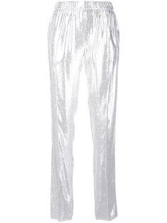 металлизированные брюки Baja East