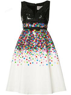 расклешенное платье с пайетками Carolina Herrera
