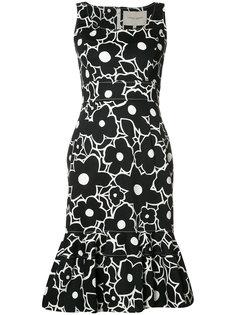 платье с цветочным принтом Carolina Herrera