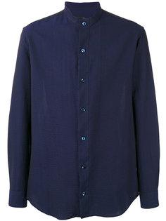 рубашка с воротником-мандарин Seersucker  Giorgio Armani