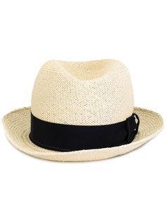 шляпа с контрастной лентой Giorgio Armani