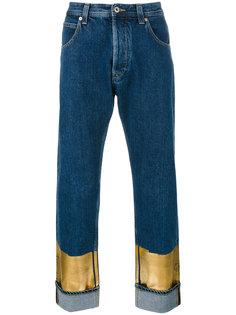 джинсы с отделкой металлик Loewe
