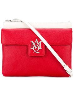 сумка-сэтчел  с логотипом и контрастными панелями Alexander McQueen