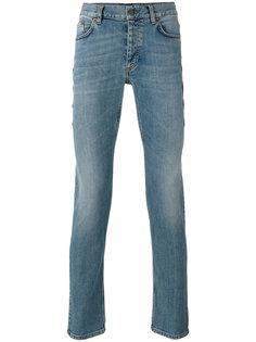 джинсы слим с окантовкой из бусин Roberto Cavalli