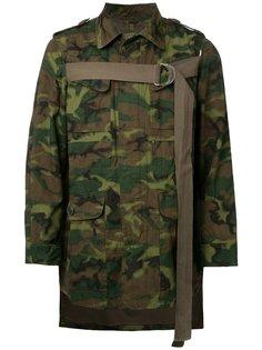 асимметричная куртка с камуфляжным принтом  Maison Mihara Yasuhiro