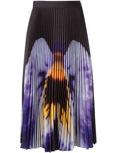 юбка миди с принтом анютиных глазок Christopher Kane