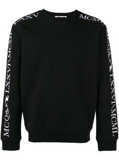 roman numeral branded sweatshirt McQ Alexander McQueen