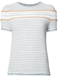 полосатый джемпер с короткими рукавами Maison Ullens