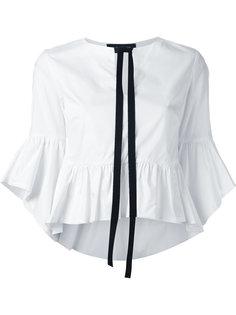Black trim peplum shirt  Christian Pellizzari