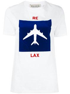 футболка с изображением самолета Être Cécile