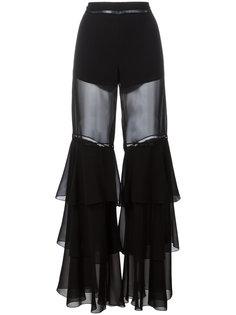 расклешенные брюки с рюшами Alberta Ferretti