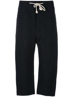 укороченные брюки с завязками-веревками Joseph