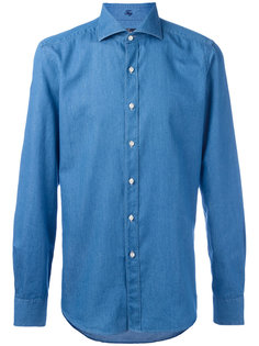 джинсовая рубашка узкого кроя Fay