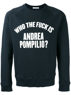 толстовка с принтом слогана Andrea Pompilio