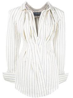 полосатое платье-рубашка Jacquemus
