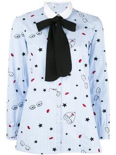 рубашка с воротником и бантом на шее Vivetta