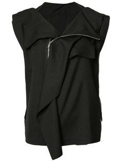 байкерская куртка без рукавов Issey Miyake