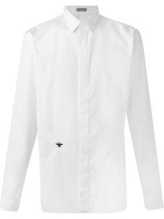 рубашка с вышивкой пчел  Dior Homme