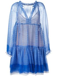 платье мини с узором Stella McCartney
