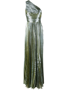 metallic one shoulder gown Maria Lucia Hohan