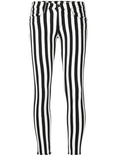 эластичные укороченные брюки в полоску Rag & Bone /Jean