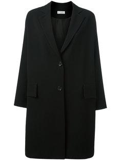 drop shoulder button fastening coat Alberto Biani