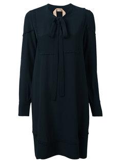 платье-рубашка с бантом на шее Nº21
