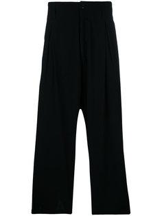 укороченные брюки свободного кроя Yohji Yamamoto