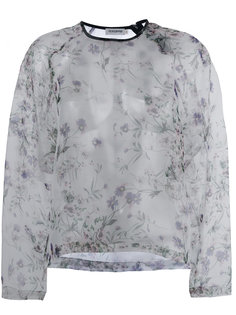 floral print sheer top Roseanna