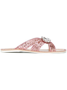 glitter embellished sandals Car Shoe