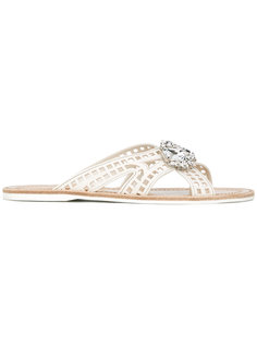 jewel embellished sandals Car Shoe