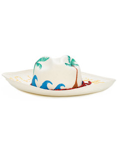 Vamos a la playa beaded panama hat Sensi Studio