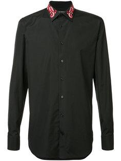 рубашка с вышивкой на воротнике Alexander McQueen