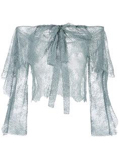 кружевная блузка с открытыми плечами Philosophy Di Lorenzo Serafini