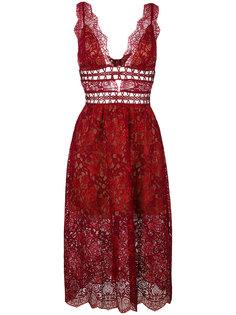 кружевное платье с глубоким вырезом For Love And Lemons