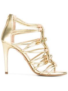 braid-detailed sandals with gemstones  Loriblu