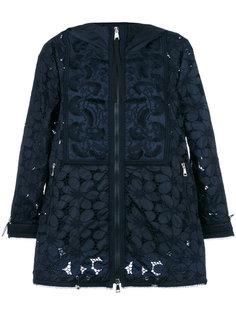 гипюровая куртка с капюшоном Moncler