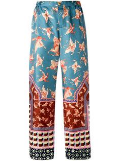 прямые брюки в пижамном стиле F.R.S For Restless Sleepers